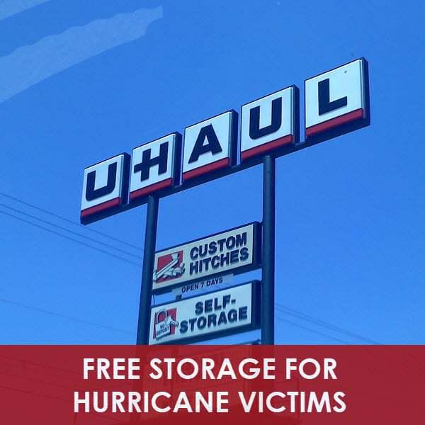 FREE U-Haul Storage for Hurricane Victims **List of Locations**