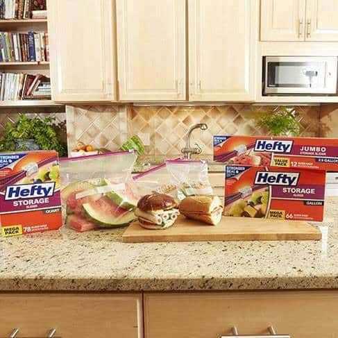 Hefty Slider Jumbo Storage Bags (2.5 Gallon, 12 Count) Only $3.99