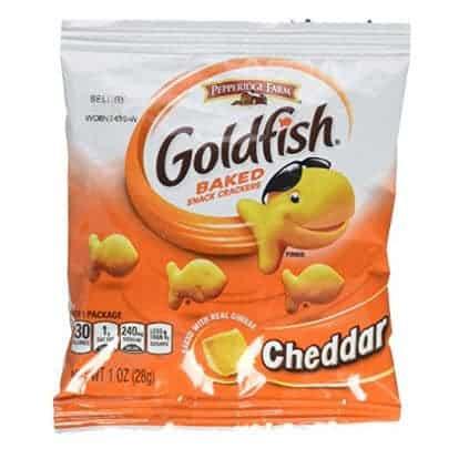 Pepperidge Farm Cheddar Goldfish Crackers, 45-1oz Pouches Only $6.82