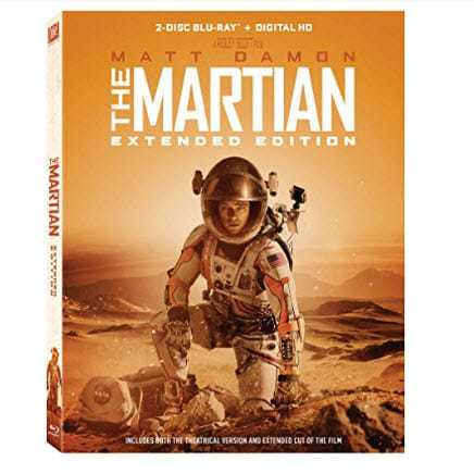 The Martian: Extended Edition [Blu-ray] Only $3.99 (Was $19.99)