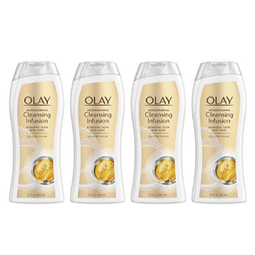 4 Pack of Olay Microscrubbing Cleansing Ginger Body Wash Only $11.76