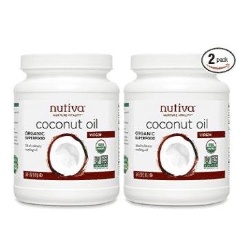 2 Pack of Nutiva Organic, Cold-Pressed Virgin Coconut Oil 54 Fluid Ounces Only $29.98