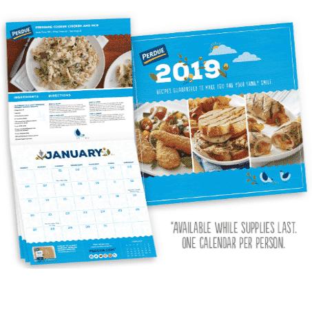 Free 2019 Perdue Recipe Calendar