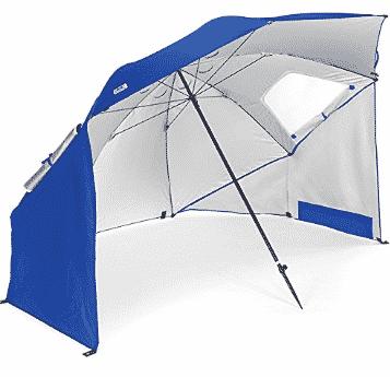 Sport-Brella Portable Umbrella, 8-Foot Canopy, Blue Only $38.03 (Was $59.99)