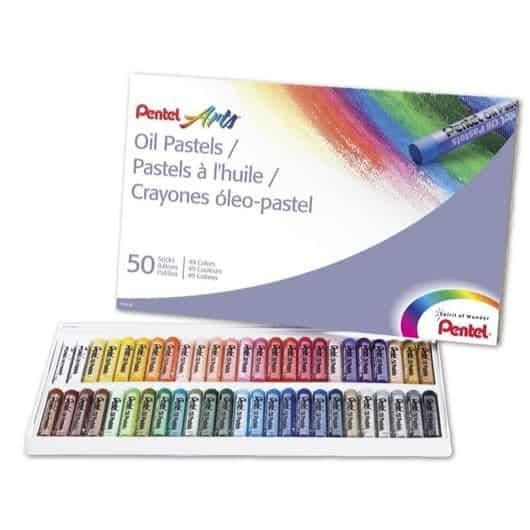 Pentel Arts Oil Pastels 50 Color Set Only $4.44