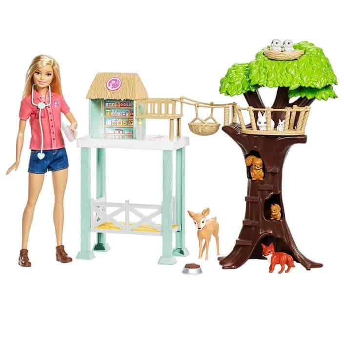 Barbie Animal Rescuer Doll & Playset Only $24.99