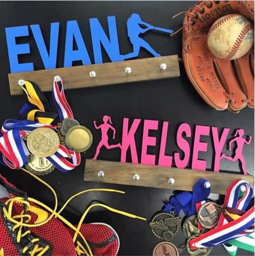 Personalized Sports Medal Holders $24.99