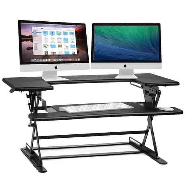 Halter Height Adjustable Sit to Stand Elevating Desktop Only $119.99
