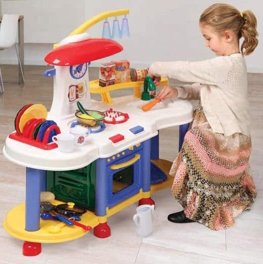 Super Electronic Toddler Play Kitchen Only $29.99 Shipped