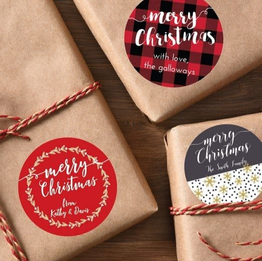 Personalized Holiday Gift Labels Only $6.95