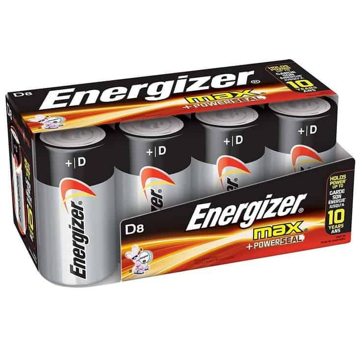 Energizer D Cell Batteries, Max Alkaline (8 Count) Only $6.29
