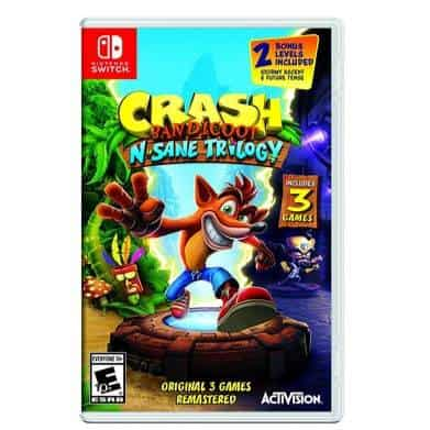 Crash Bandicoot N. Sane Trilogy for Nintendo Switch Only $19.99 (Was $39.99)