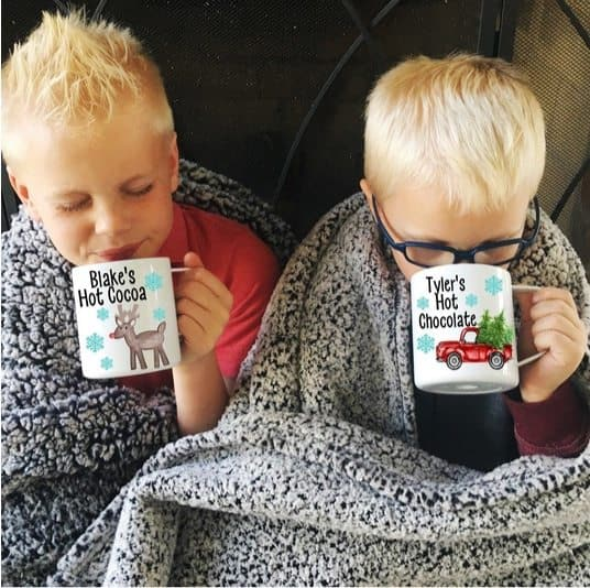 Personalized Kids Hot Cocoa Mugs Only $11.99