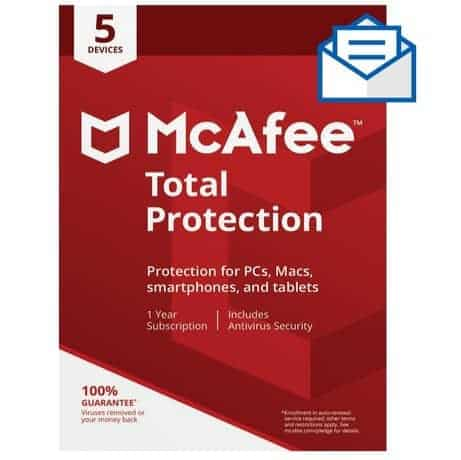 McAfee Total Protection - 5 Devices Only $19.99 **Today Only**