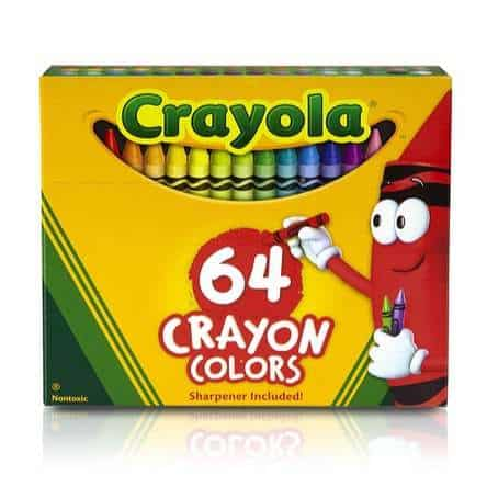 Crayola Crayons 64 Count Only $2.89