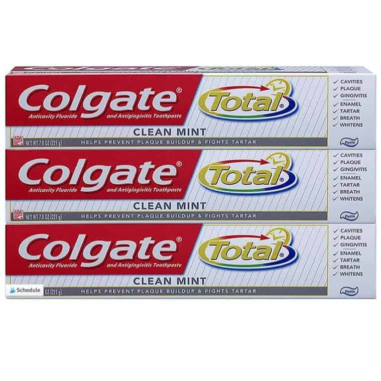 Colgate Total Clean Mint Toothpaste 7.8 ounce 3-Pack Only $6.82