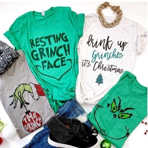 Fun Holiday Character Tees Only $13.99 **Youth & Adult**