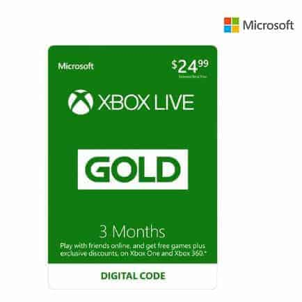 Xbox LIVE 3 Month Gold Membership + $10 Xbox Gift Card Only $21.99