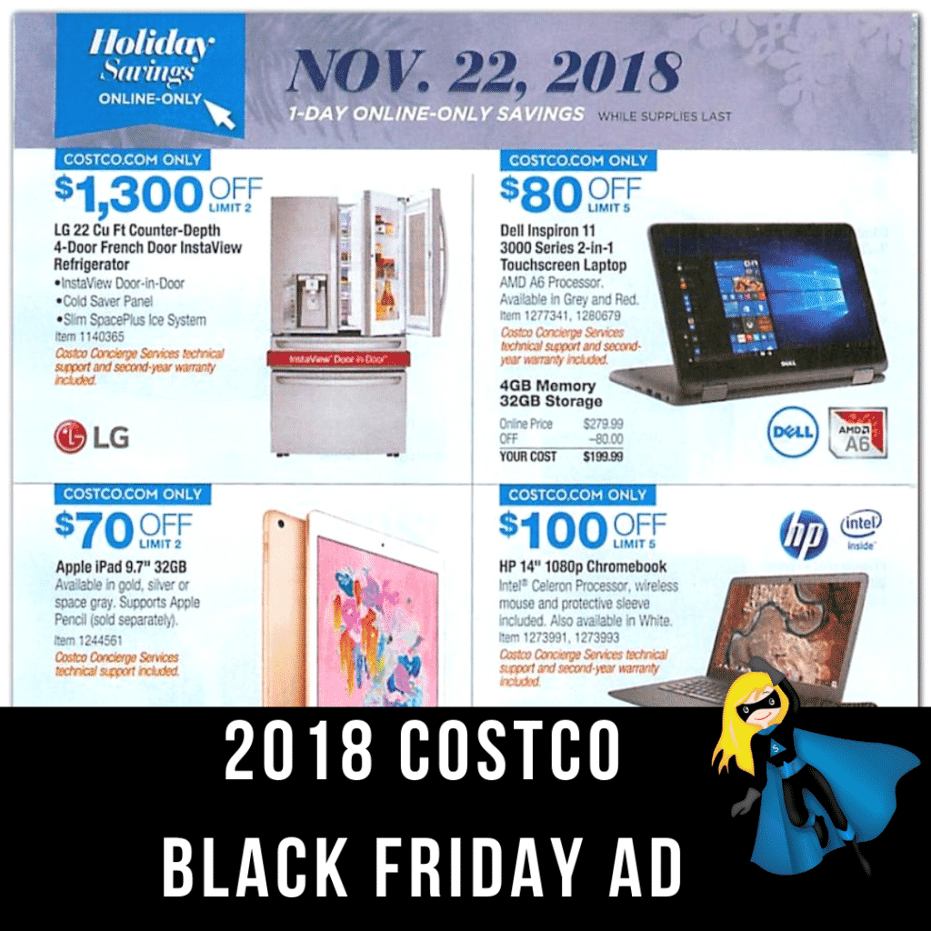 2018 Costco Black Friday Ad Scan