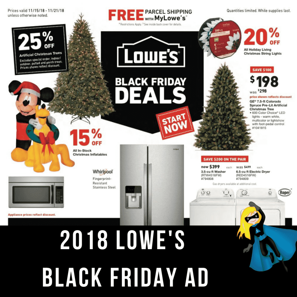 2018 Lowe's Black Friday Ad Scan