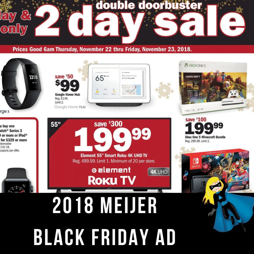 2018 Meijer Black Friday Ad Scan
