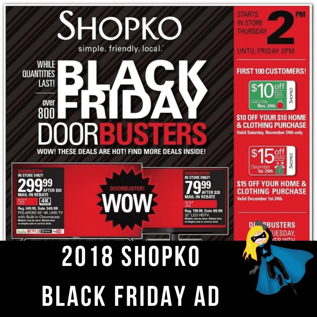 2018 Shopko Black Friday Ad Scan