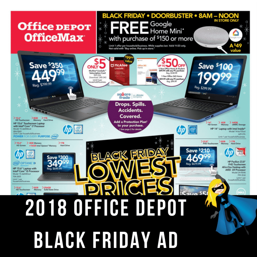 2018 Office Depot/Max Black Friday Ad Scan
