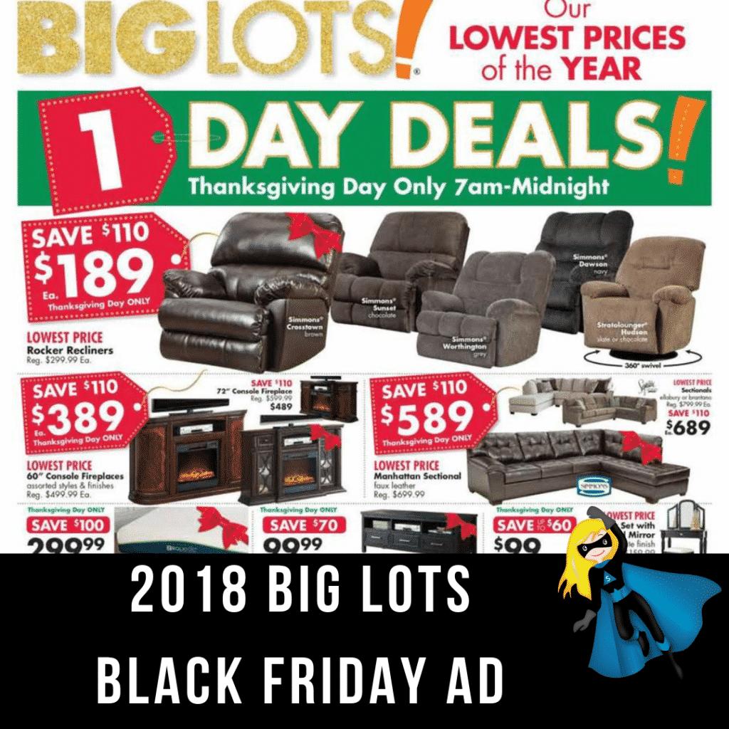 2018 Big Lots Black Friday Ad Scan