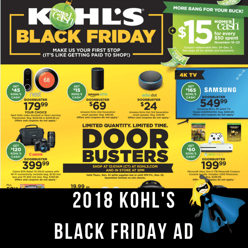 The 2018 Kohl's Black Friday Ad is OUT!!!
