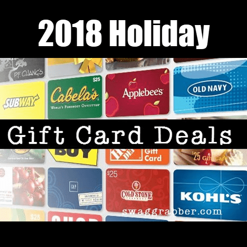 2018 HUGE List of Holiday Gift Card Deals **Great Last Minute Gifts**