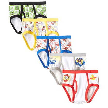 5 Pack of Nickelodeon Handcraft Little Boys' Paw Patrol Briefs Only $5.00 (Was $18.00)