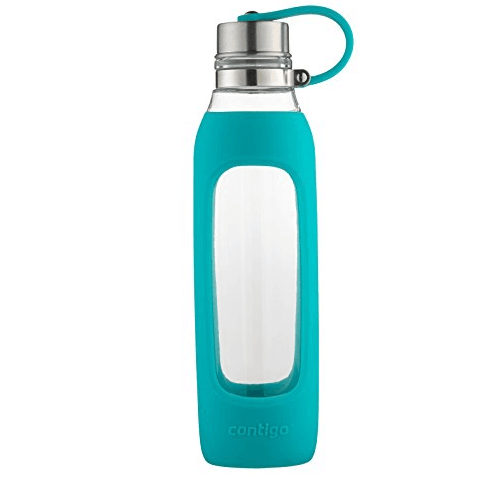Contigo Purity Glass Water Bottle, 20 oz, Scuba With Silicone Tether Only $8.63