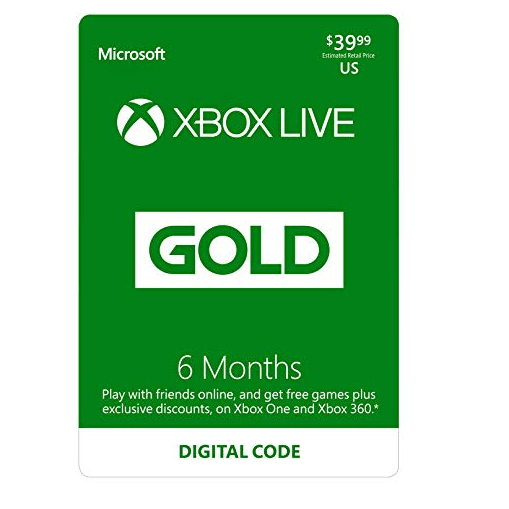 Xbox Live Gold: 6 Month Membership [Digital Code] Only $20 (Was $39.99)