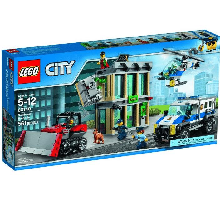 LEGO City Police Bulldozer Break-In 60140 Building Kit Only $38.99 (Was $69.99)