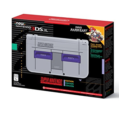 Nintendo New 3DS XL - Super NES Edition + Super Mario Kart for SNES Only $149.99 (Was $199.99)