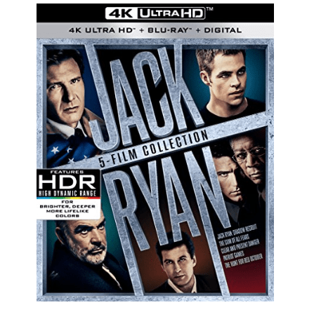 Jack Ryan 5-Film Collection UHD 4K Only $46.96 (Was $69.99)