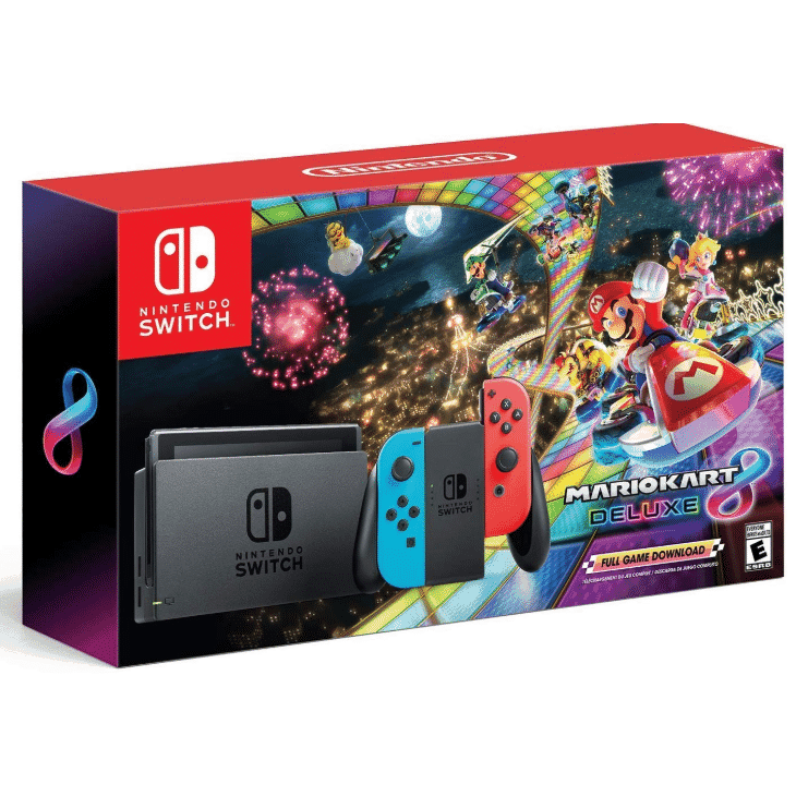 Nintendo Switch w/ Mario Kart 8 Deluxe w/ FREE $50 Game Stop Gift Card Only $299.99