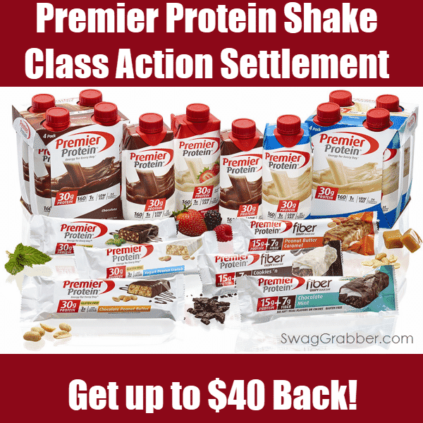 Premier Protein Shake Class Action Settlement - Get Up to $40 Back