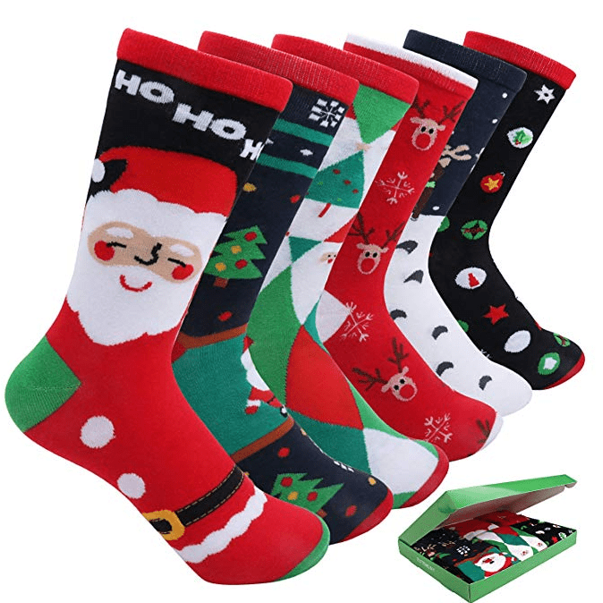 6 Pairs Women's Christmas Holiday Casual Socks Only $9.99