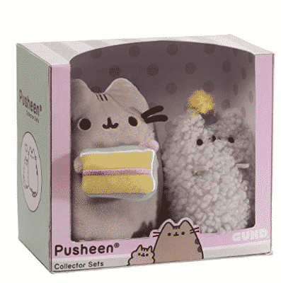 Set of 2 GUND Pusheen and Stormy Birthday Plush Stuffed Animals Only $10.50 (Was $25.00)