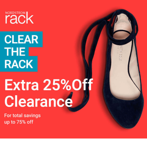 Nordstrom Clear The Rack Sale - Extra 25% off Clearance