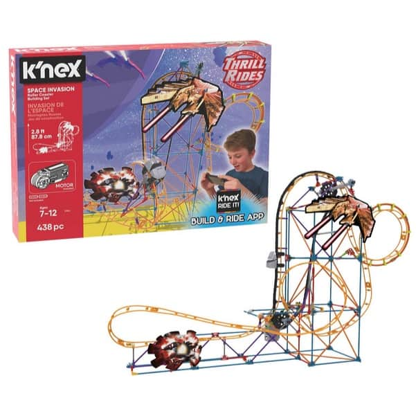 K'NEX Thrill Rides Space Invasion Roller Coaster Building Set with Ride It! App Only .49 (Was .99)