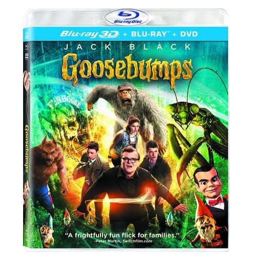 Goosebumps (3D Blu-ray + Blu-ray + DVD + UltraViolet) Only $7.96
