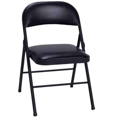 Cosco Vinyl Folding Chair Black (4-pack) Only $43.40