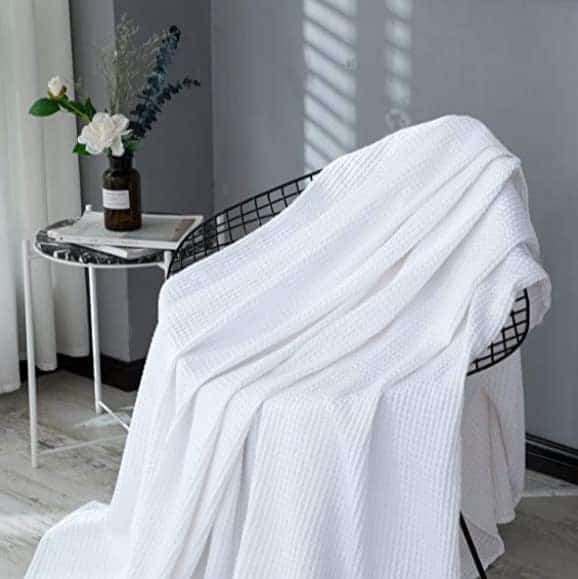 PHF 100% Cotton Breathable Waffle Weave Blankets Only $25.19 **Today Only**