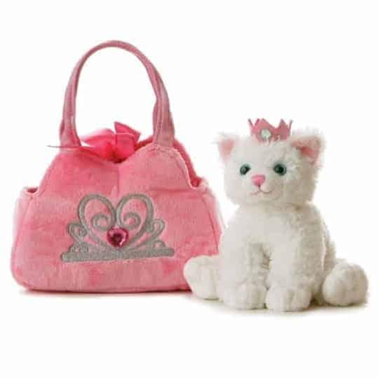 Aurora World Fancy Pals Plush Princess Kitten Purse Pet Carrier Only $8.98