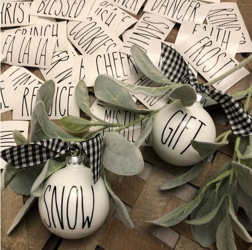 Farmhouse Ornament Decals ~ Set of 12 Only $8.99 Each