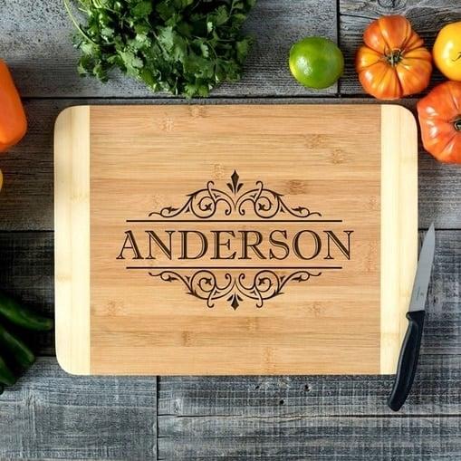 Personalized Bamboo Cutting Board $13.95