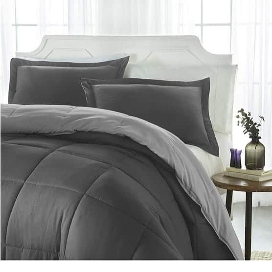 iEnjoy Home Collection Down Alternative Reversible Comforter Set Only $29.99 **Today Only**