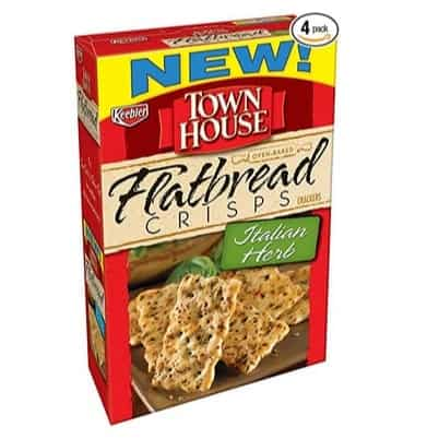 Town House Flatbread Crisps Crackers, Italian Herb, 4-Pack Only $7.60